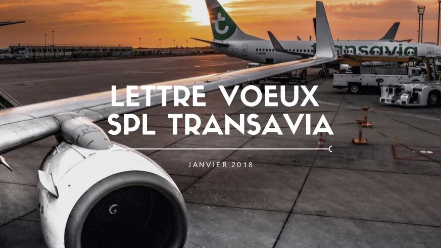 Lettre Voeux SPL Transavia