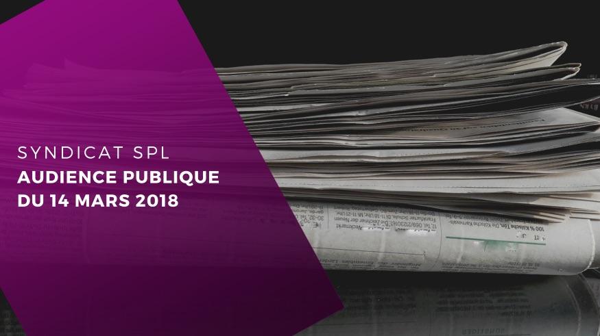 COUR DE CASSATION – Audience publique du 14 mars 2018