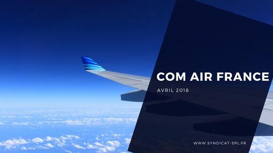 Courrier SPL Air France aux partenaires sociaux